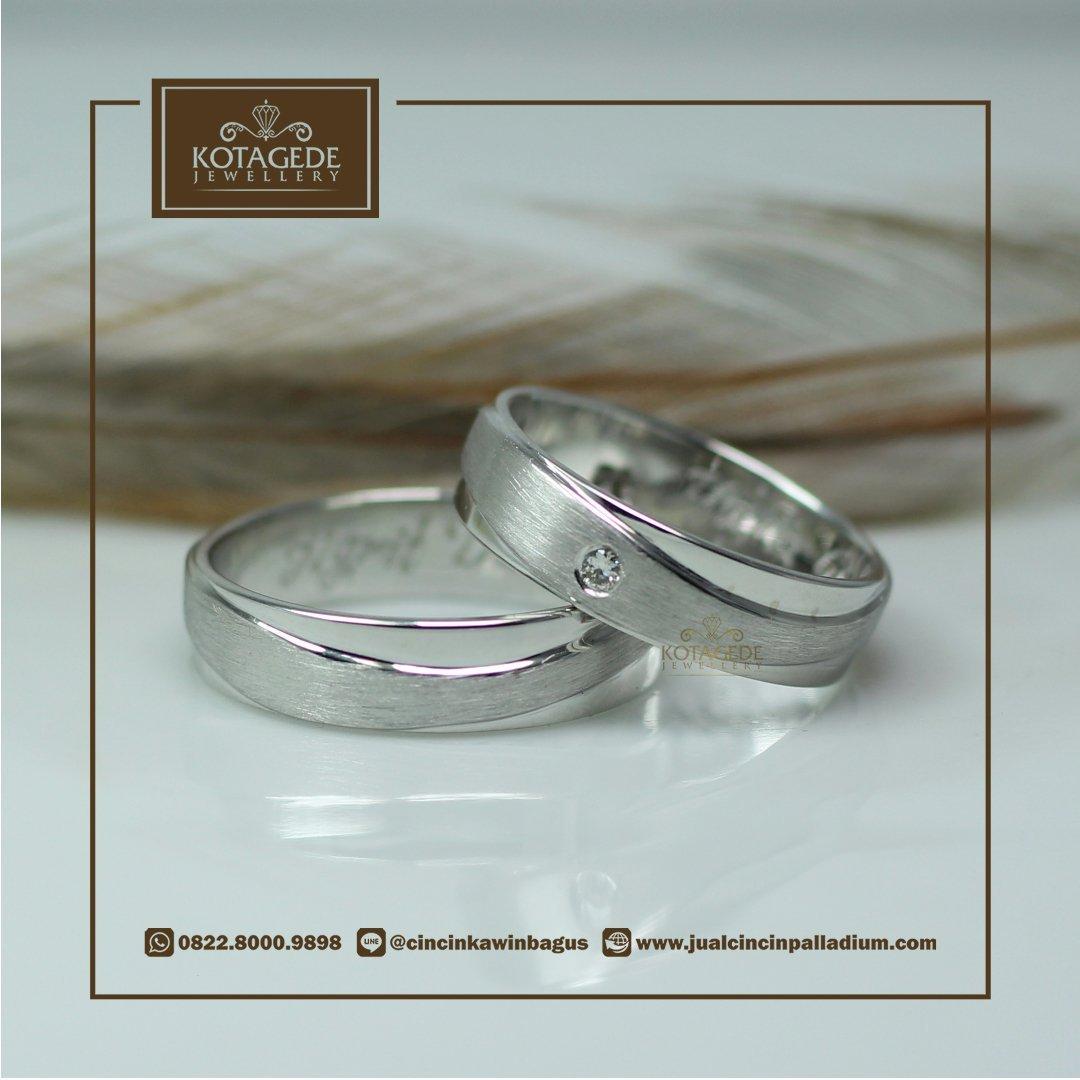 Cincin Kawin Atau Tunangan Palladium P042wg Pernikahan 022