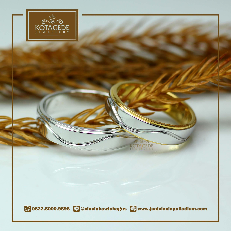 Cincin Kawin Tunangan Exclusive Platinum Emas Kuning PT0023YG