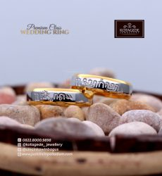 Cincin Kawin Platidium Simple Laser PTD001