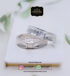 Cincin Kawin Emas Putih Couple Exclusive WG0079