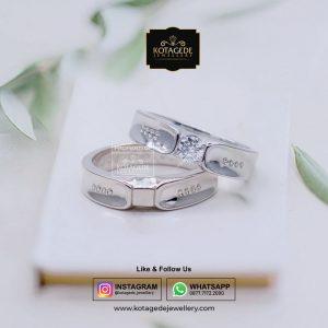 Cincin Kawin Emas Putih Couple Exclusive WG0079