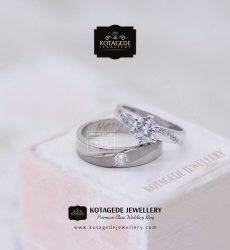 Cincin Kawin Emas Putih Elegan Palladium WG0076PD