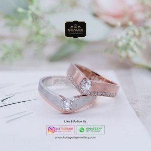 Cincin Kawin Platinum Emas Rose Gold PT0057RG