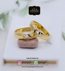 Cincin Kawin Tunangan Emas Kuning Palladium YG0064PD