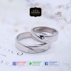 Cincin Kawin Tunangan Emas Putih Palladium WG0083PD