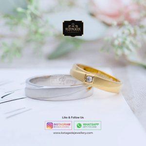 Cincin Kawin Tunangan Emas Putih Yellow Gold WG0092YG