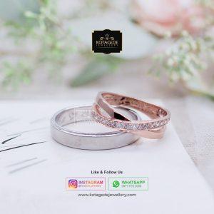 Cincin Kawin Tunangan Emas Rose Gold Palladium RG0027PD
