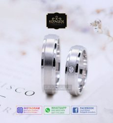 Cincin Kawin Tunangan Palladium Couple Simple PD0059