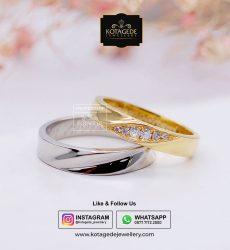 Cincin Kawin Tunangan Palladium Emas Kuning PD0057YG