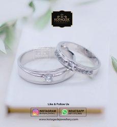 Cincin Kawin Tunangan Palladium Emas Putih PD0058WG
