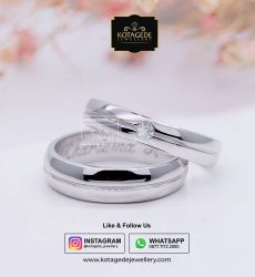 Cincin Kawin Tunangan Palladium Platinum Exclusive PD0058PT
