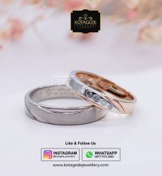 Cincin Kawin Tunangan Palladium Rose Gold PD0050RG