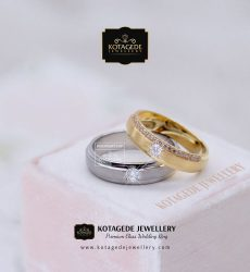 Cincin Kawin Tunangan Palladium Rose Gold PD0057RG