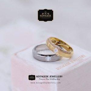 Cincin Kawin Tunangan Palladium Rose Gold PD0057RG
