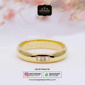 Cincin Kawin Tunangan Wanita Emas Kuning Exclusive YG0057