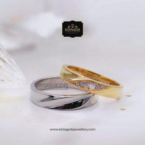 Cincin Kawin Tunangan Emas Rose Gold Palladium RG0074PD