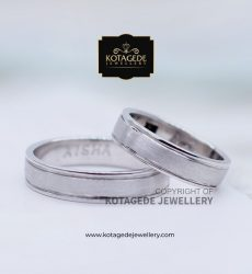 Cincin Kawin Tunangan Palladium Couple Simpel PD0036
