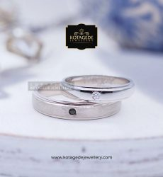Cincin Kawin Tunangan Palladium Couple Simple PD0025