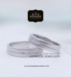 Cincin Kawin Tunangan Palladium Couple Simple PD0072