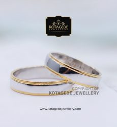 Cincin Kawin Tunangan Palladium Couple Simple PD0076