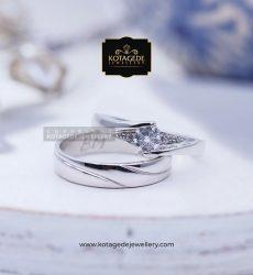 Cincin Kawin Tunangan Palladium Emas Putih PD0056WG
