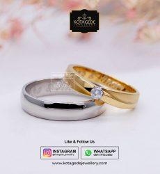 Cincin Kawin Tunangan Palladium Emas Rose Gold PD0053RG