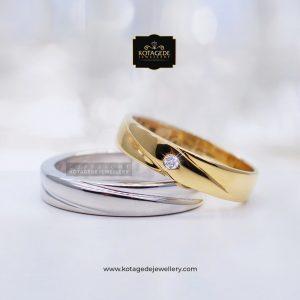 Cincin Kawin Tunangan Palladium Emas Rose Gold PD0089RG