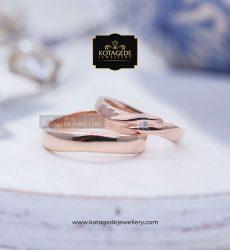 Cincin Kawin Tunangan Palladium Emas Rose Gold PD0097RG