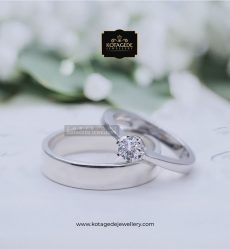 Cincin Kawin Tunangan Palladium Platinum Exclusive PD0098PT