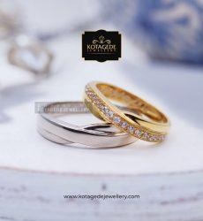 Cincin Kawin Tunangan Platinum Emas Rose Gold PT0068RG