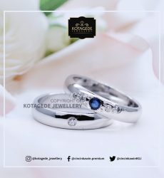 Cincin Kawin Tunangan Platinum Palladium Blue Safir PT0037PD