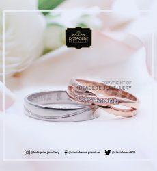 Cincin Kawin Tunangan Platinum Rose Gold Elegant PT0072WG