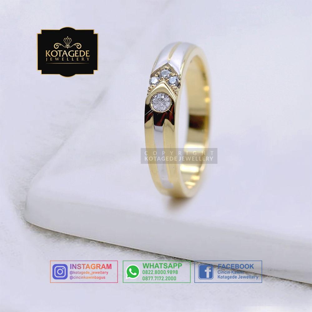 Cincin Kawin Tunangan Wanita Emas Rose Gold Elegant RG0059