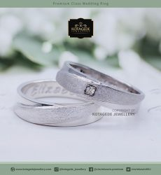 Cincin Kawin Tunangan Palladium Couple Putih PD0046