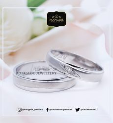 Cincin Kawin Tunangan Palladium Couple Simple PD0065