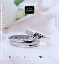 Cincin Kawin Tunangan Palladium Platinum Simple PD0084PT