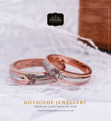 Cincin Kawin Tunangan Rose Gold Palladium Couple RG0024PD