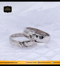 Cincin Kawin Tunangan Palladium Couple PD0104