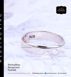 Cincin Kawin Tunangan Platinum Glossy Polos PT0029