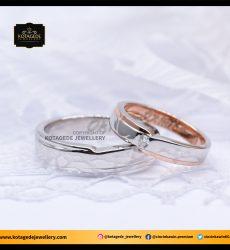 Cincin Kawin Tunangan Platinum Rose Gold PT0038RG