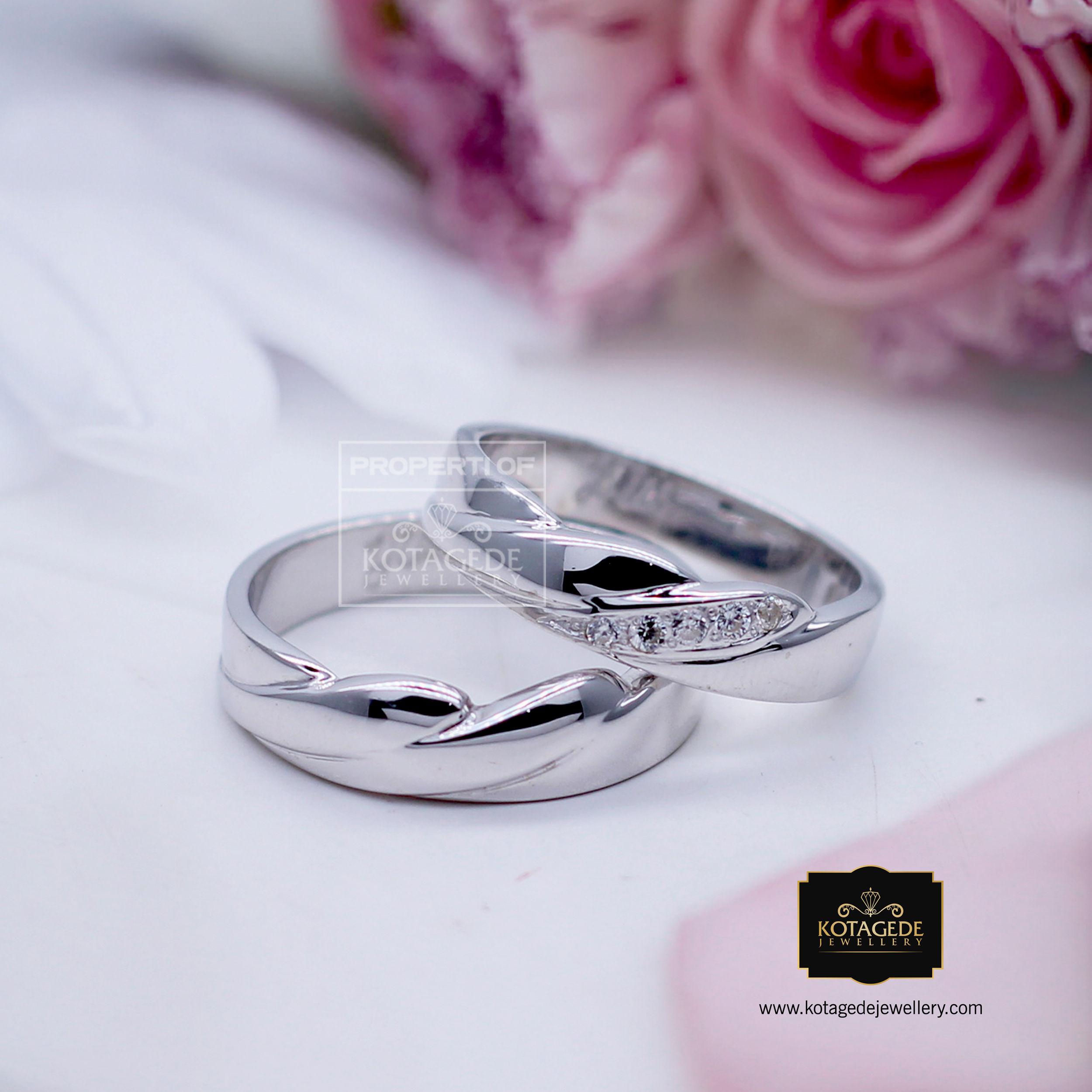 Cincin Kawin Palladium Emas Putih PD0190WG