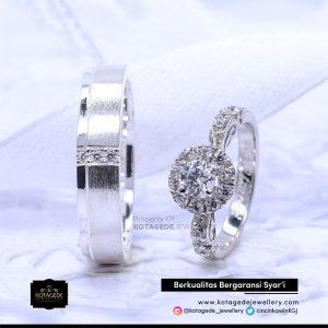 Cincin Kawin Tunangan Big Diamond Platinum PT0112PT