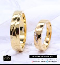 Cincin Kawin Tunangan Emas Kuning Couple YG0114YG