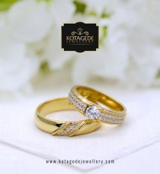 Cincin Kawin Tunangan Emas Kuning Diamond YG0119YG