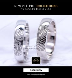 Cincin Kawin Tunangan Platinum Couple Fingerprint PT0107PT