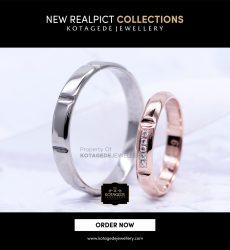 Cincin Kawin Tunangan Platinum Rose Gold PT0106RG