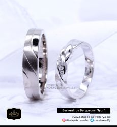 Cincin Kawin Tunangan Simple Palladium PD0115PD