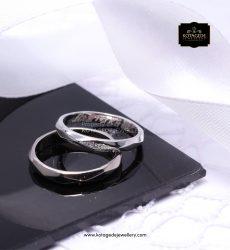 Cincin Kawin Couple Unik Platinum Emas Putih PT0143WG