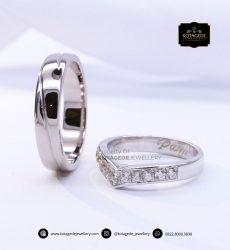 Cincin Kawin Tuangan Platinum Emas Putih PT0145WG