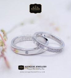 Cincin Kawin Tunangan Couple Palladium Platinum PD0131PT